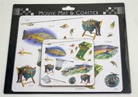 Justfish mouse mat & coaster